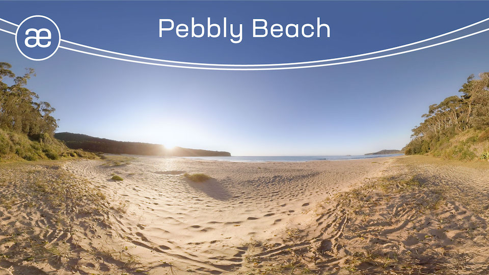 Pebbly Beach | VR Pure Nature | 360° Video