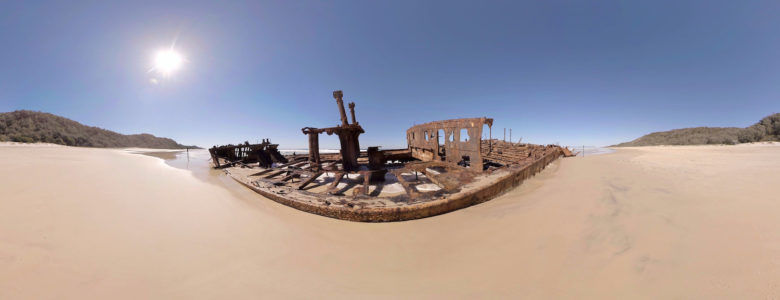 License VR Nature 360 Video Maheno Shipwreck Clip 456