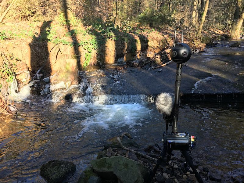 Filming Creek with Insta360 Pro 2